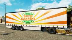 Krone curtain semi-trailer EuroGoodies