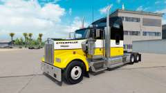 The skin of the Caterpillar tractor Kenworth W90