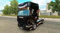 Skin Russia Black on the tractor Scania
