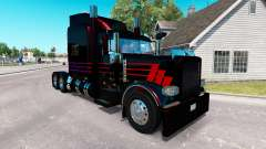 Skin Black SR on the truck Peterbilt 389