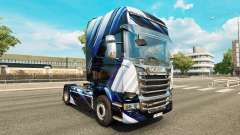 Blue Stripes skin for Scania truck