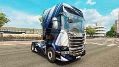 Blue Stripes skin for Scania truck for Euro Truck Simulator 2