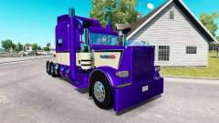 Metallic Purple skin for the truck Peterbilt 389