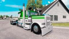Skin White-metallic green for the truck Peterbil