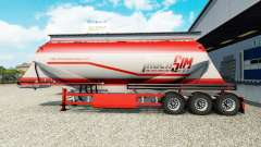 TruckSim skin on the semitrailer-cement truck