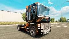 Matte Orange skin for Renault truck