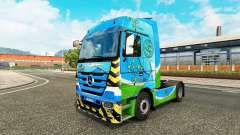 Skin Go Green for tractor Mercedes-Benz for Euro Truck Simulator 2