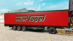 Skin Oskar Vogel on the semitrailer-the refriger