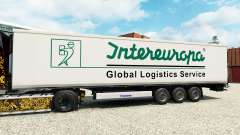 Skin Intereuropa on the semitrailer-the refriger