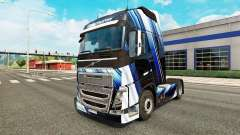 Blue Stripes skin for Volvo truck
