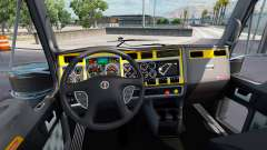 The interior is Yellow-gray to Kenworth W900