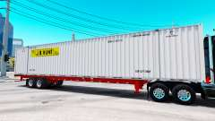 Semitrailer container J. B. Hunt