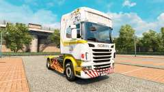 Skin White gold on tractor Scania for Euro Truck Simulator 2