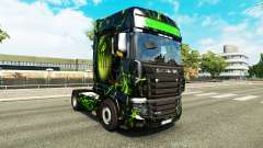 The skin Monster on tractor Scania R700