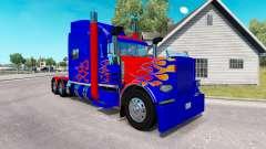 Skin Optimus Prime v2.0 tractor Peterbilt 389