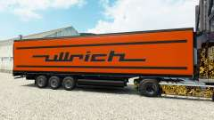 Skin Ullrich on the semitrailer-the refrigerator