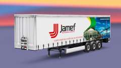 Skin Jamef Logistic trailer on a curtain