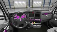 Interior Pink Dial for Kenworth T680