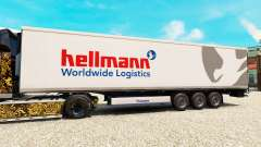 Skin Hellman on the semitrailer-the refrigerator