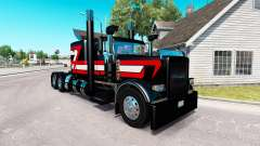 Black Metallic skin for the truck Peterbilt 389