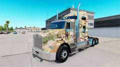 Skin Camouflage on the truck Kenworth T800