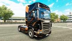 Matte Orange skin for Scania truck for Euro Truck Simulator 2