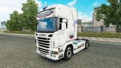Russia White skin for the truck Scania