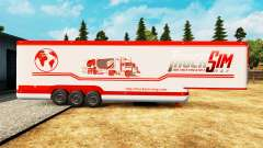 The semitrailer-the refrigerator TruckSim