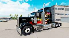Skin WWE on the truck Kenworth W900