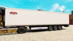 Skin KLV for semi-refrigerated for Euro Truck Simulator 2