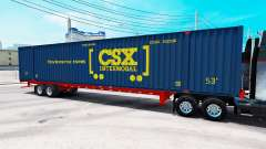 Semitrailer container CSX Intermodal