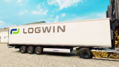 Skin Logwin Logistics for semi-refrigerated for Euro Truck Simulator 2