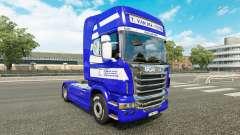 Skin T. van der Vijver on the tractor Scania