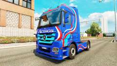 Skin Blue Edition tractor unit Mercedes-Benz
