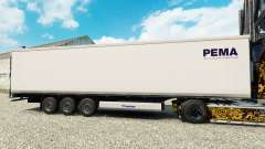 Skin PEMA for semi-refrigerated for Euro Truck Simulator 2