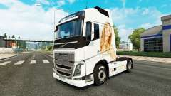 Jennifer Lawrence skin for Volvo truck