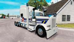 Burton Trucking skin for the truck Peterbilt 389