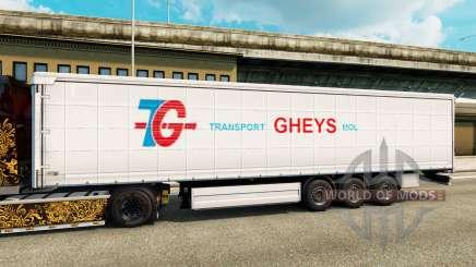 Skin Transport Gheys on semi for Euro Truck Simulator 2