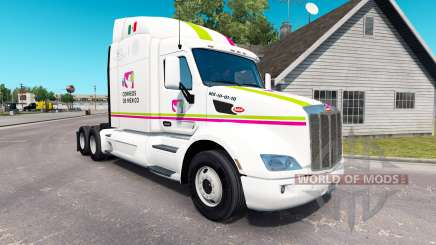 Skin Correos de Mexico for truck Peterbilt for American Truck Simulator