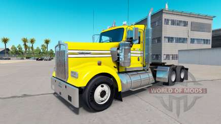 Skin Smooth, Yellow on the truck Kenworth W900 for American Truck Simulator