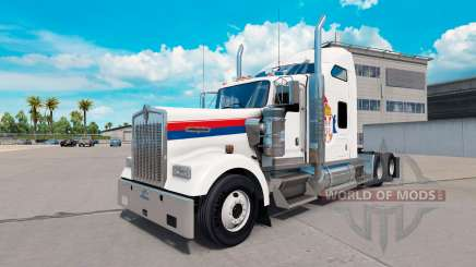 Serbia skin for the Kenworth W900 tractor for American Truck Simulator