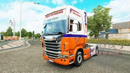 FedEx Express skin for Scania truck for Euro Truck Simulator 2