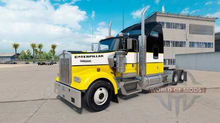 The skin of the Caterpillar tractor Kenworth W900 for American Truck Simulator