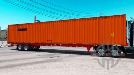 Semitrailer container Schneider for American Truck Simulator