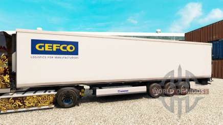 Skin Gefco for semi-refrigerated for Euro Truck Simulator 2