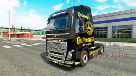 Continental skin for Volvo truck for Euro Truck Simulator 2