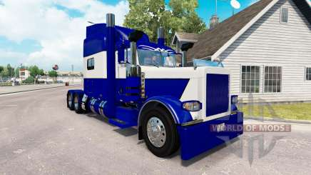 The Blue skin and White for the truck Peterbilt 389 for American Truck Simulator