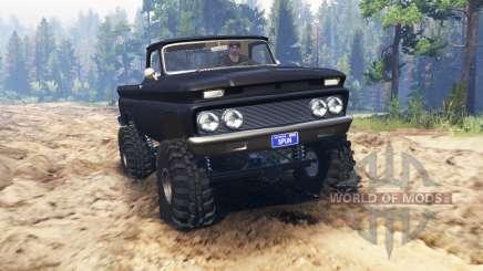 Chevrolet С-10 1966 Custom for Spin Tires