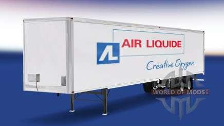 Skin Air Liquide on the trailer for American Truck Simulator