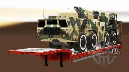 Semi carrying military equipment v1.5.1 for Euro Truck Simulator 2